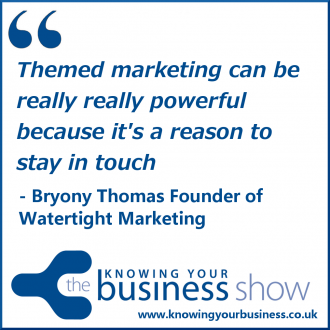 Themed marketing can be really really powerful because it's a reason to stay in touch