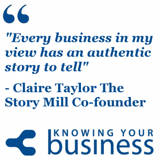 Play the podcast and find out what Claire Taylor thinks on how businesses can use storytelling