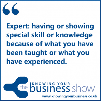 Expert: having or showing special skill or knowledge because of what you have been taught or what you have experienced.