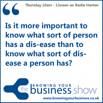 On this Knowing Your Business Show we'll discuss Complementary Health and Wellness