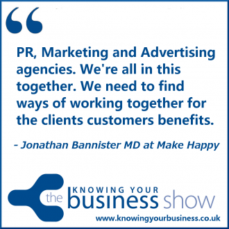 PR, Marketing and Advertising agencies. We're all in this together. We need to find ways of working together for the clients customers benefits.