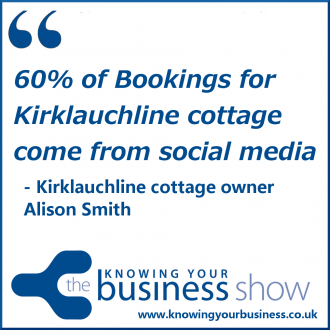 60% of Bookings of Kirklauchline cottage come from social media