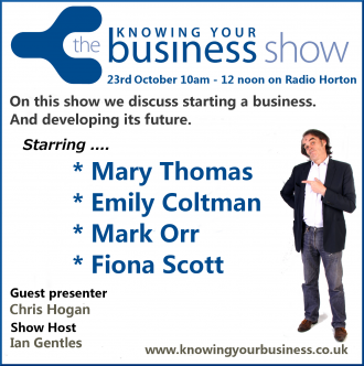 23rd October 2014 Knowing Your Business Radio Show