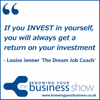 If you INVEST in yourself, you will always get a return on your investment