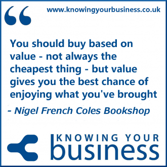 You should buy based on value - not always the cheapest thing - but value gives you the best chance of enjoying what you've brought