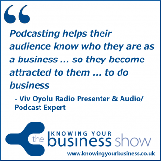 Podcasting helps their audience know who they are as a business ... so they become attracted to them ... to do business