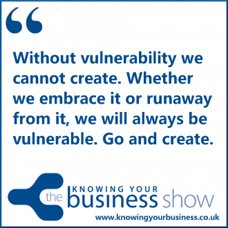 Without vulnerability we cannot create. Whether we embrace it or runaway from it, we will always be vulnerable. Go and create.