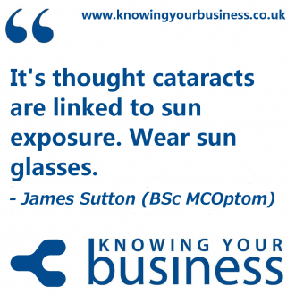 On this Knowing Your business radio show we explored the subject of eye health with optometrist James Sutton.
